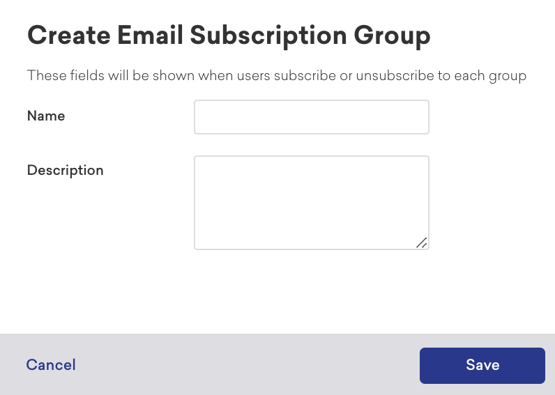 Create a Subscription Group