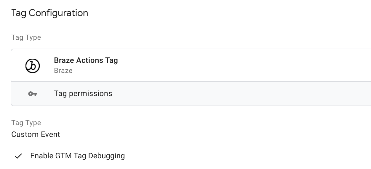 Tag Debugging Option